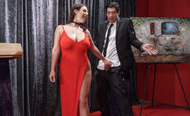Angela White Red Dress Blowjob