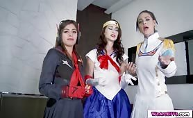 Jake enjoys fucking her stepsis and her friends cosplayer