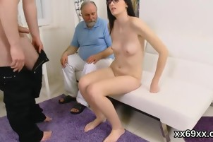 Man assists with hymen physical and drilling of virgin nympho