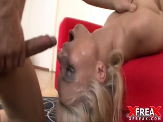 Wild Whore Fucked In Face