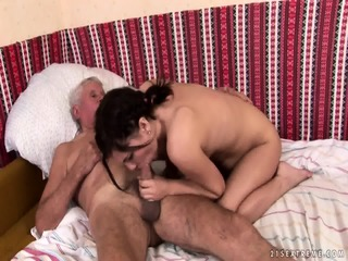 Mature Captain Fucks Attractive Brunette