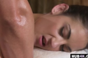 Masseur Bangs Brunette Miky Love Tight Pussy