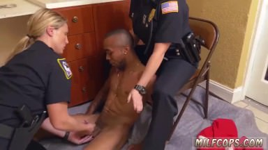Milf virgin ally Black Male squatting in home gets our milf officers