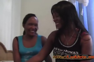 African lesbian girlfriends licking shaved cunts