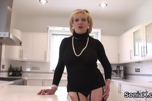 Unfaithful british milf lady sonia shows her gigantic tits