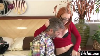 Hot redhead teacher loves to get drilled