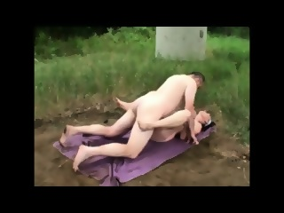 Mature Couple - Husband And Wife Outdoor Fun