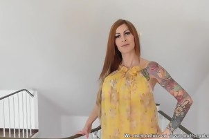 Tattoo MILF from Milfsexdating creampie in her asshole