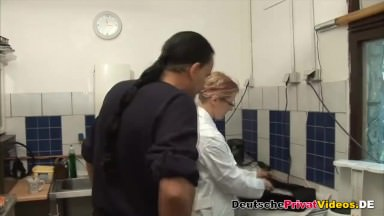 Nice kitchen sex with hot German wife