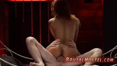 Latex slave german and extreme dirty talk starts humping her tiny slit in