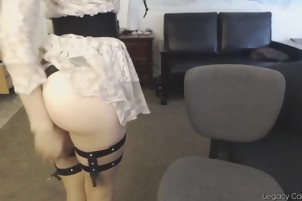 Horny Girl Gets A Spanking