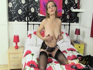 Mature Lady Takes Off Sexy Lingerie