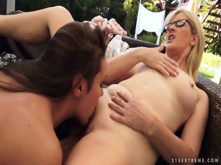 Mature Blonde Tries Out Horny Teen