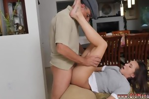 Old man creampie gangbang Riding the Old Wood!