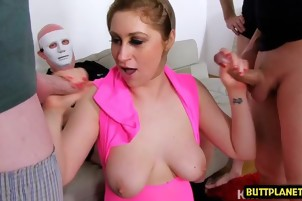 Hot pornstar gangbang and facial