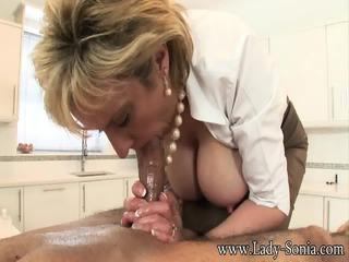 Elegant Mature Lady Sucks Cock