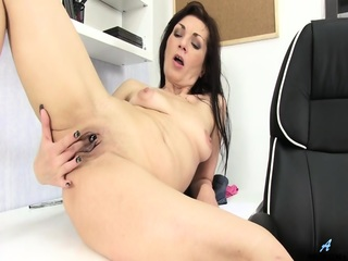 Sexy Secretary In The Office - Tyna