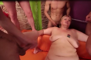 Group of fat lovers and mature BBW