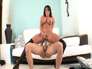 Ariella Ferrera With Stockings Rides Long Dick