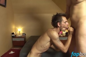 Lusty nancy boy needs a giant prick in his tight rear end