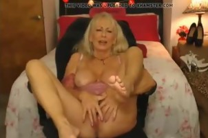 Sexy Granny orgasms on webcam more at hotpornocams