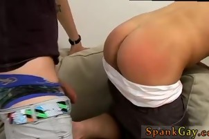 Boy takes his first cock gay porn A Well Deserved Spank &