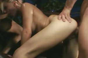blonde Makes Love To Two men At The Same Time