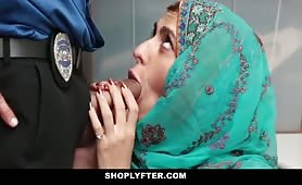 Muslim babe gets caught shoplifting