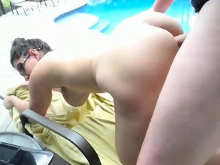 Couple Fucks By The Pool