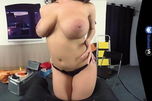 BaDoink VR Busty Italian Spy Babe Craves Cock POV Big Tits