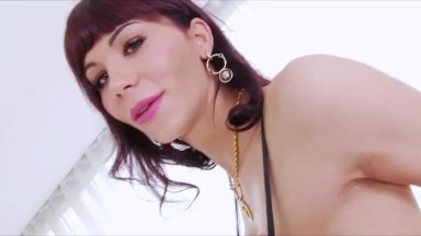 Hardcore transbabes Kai and Bailey in a sizzling assfuck sex together