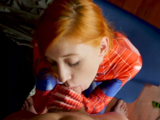 The Amazing Spider-Girl Gets Face drilled
