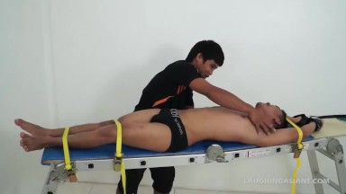asian bf Lance Tied and Tickled