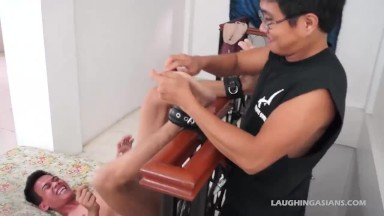 chinese bf Warren Bound and Tickled