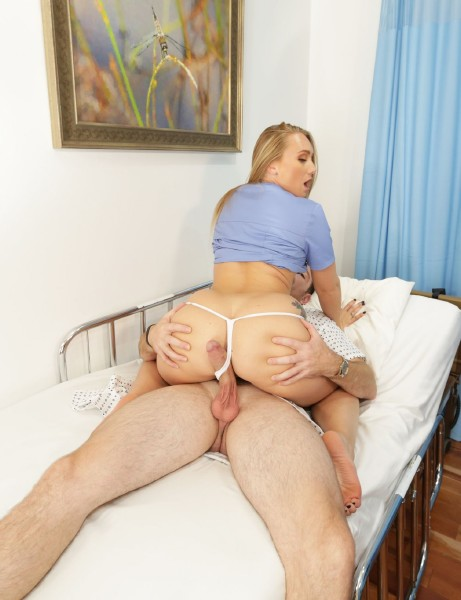 Aj. Applegate - Is A Home Nurse That Gets Tricked Into Fucking Her Patient! (2018/BangTrickery/Bangcom/FullHD).