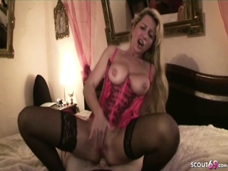 steamy GERMAN MILF Jenny Teach young dude At His FIRST FUCK