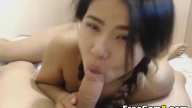 Horny oriental nubile Gives the Hottest POV blowjob Ever