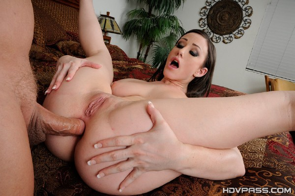 Jennifer White - Jennifer White has her rear entrance cranked (HDVPasscom).