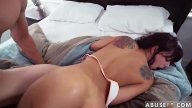 Rough boobies and hard-core assfuck threesome Gina Valentina Gets Her Wish