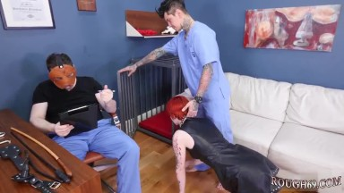 Brutal feet and xxx dp Analmal Training