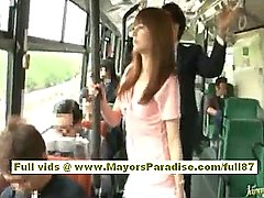 rio japanese teenie stunner getting her wooly twat groped on the bus