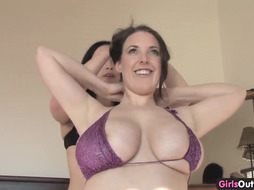inexperienced hotties playing with their monstrous naturals