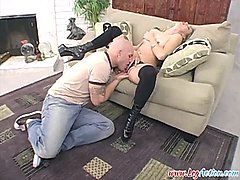 leah luv fellates hard-on and squirts
