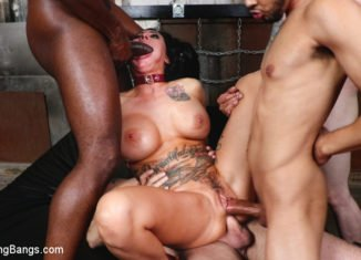 buxom tramp lily lane takes all the man meat and gets all the cum