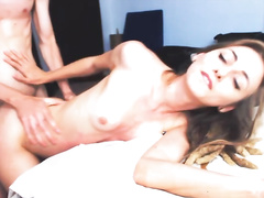 beautiful honey gets humped from behind