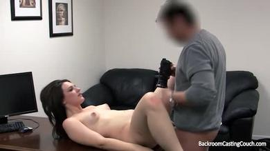 lusty stunner gets screwed rigid by a faux agent