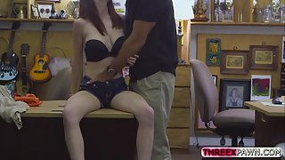 latina gal nailed highly rigid in pawnshop