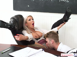 nina elle is a meaty jugged light-haired tutor who is always in the mood to deep-throat cock