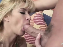busty blonde dame chante luvs to have fun with her hefty globes and with her paramour s rock hard cock