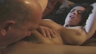 dazzling huge-chested chick with astounding delight having dt sex